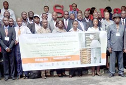 Project participants in a group photo at Sheraton hotel during the launch.