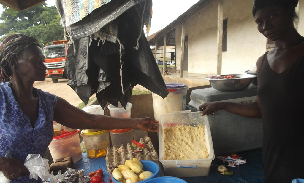 Picture of traders and maize dough